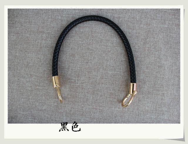 60cm removable deduction woven PU leather bag handle handbag strap portable belt