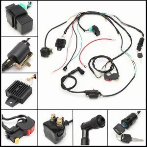 wiring harness loom solenoid coil rectifier cdi 50 110 125cc atv rh ebay com 110Cc Pit Bike Pit Bike Carb