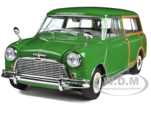 MORRIS MINI TRAVELLER verde 1/18 DIECAST CAR MODEL BY KYOSHO 08195