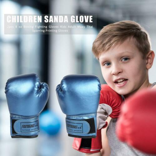 2pcs Boxing Training Fighting Gloves Leather Kid Sparring Kickboxing Gloves BEST