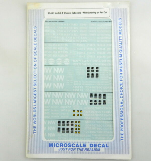 Microscale #87-1411 y HO BNSF Switcher Slugs /& GenSets new for MC-4383 Decals