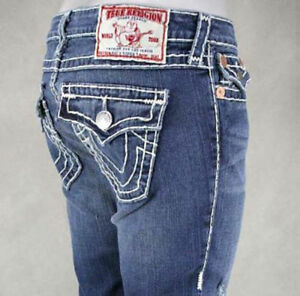 True Religion Jeans Ricky Super T socal overdye RED stitch ... |True Religion Jeans White With Black Stitching