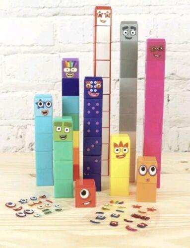 1-10 Number Blocks.100/% GENUINE Fast Delivery Toy CBeebies Numberblocks