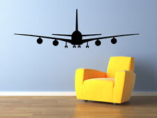 AIRPLANE AIRLINER Front View Vinyl Wall Decal Bedroom Graphics Sticker Decor