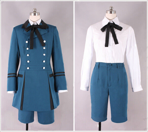 New Black Butler Ciel Phantomhive I Cosplay Costume Blue Suit Customized