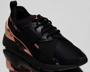 Details about Puma Muse X 2 Metallic Womens Black Rose Gold Lifestyle Sneakers Shoes 370838 01