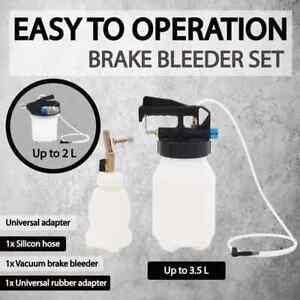 vidaXL Pneumatic Brake Bleeder Extractor Pump with Filler Bottle Tool 2L/3.5L