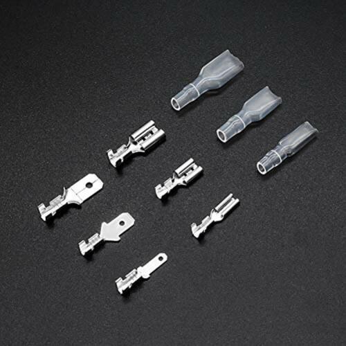 345Pcs Quick Splice 2.8mm 4.8mm 6.3mm Male And Female Wire Spade Connector Crimp