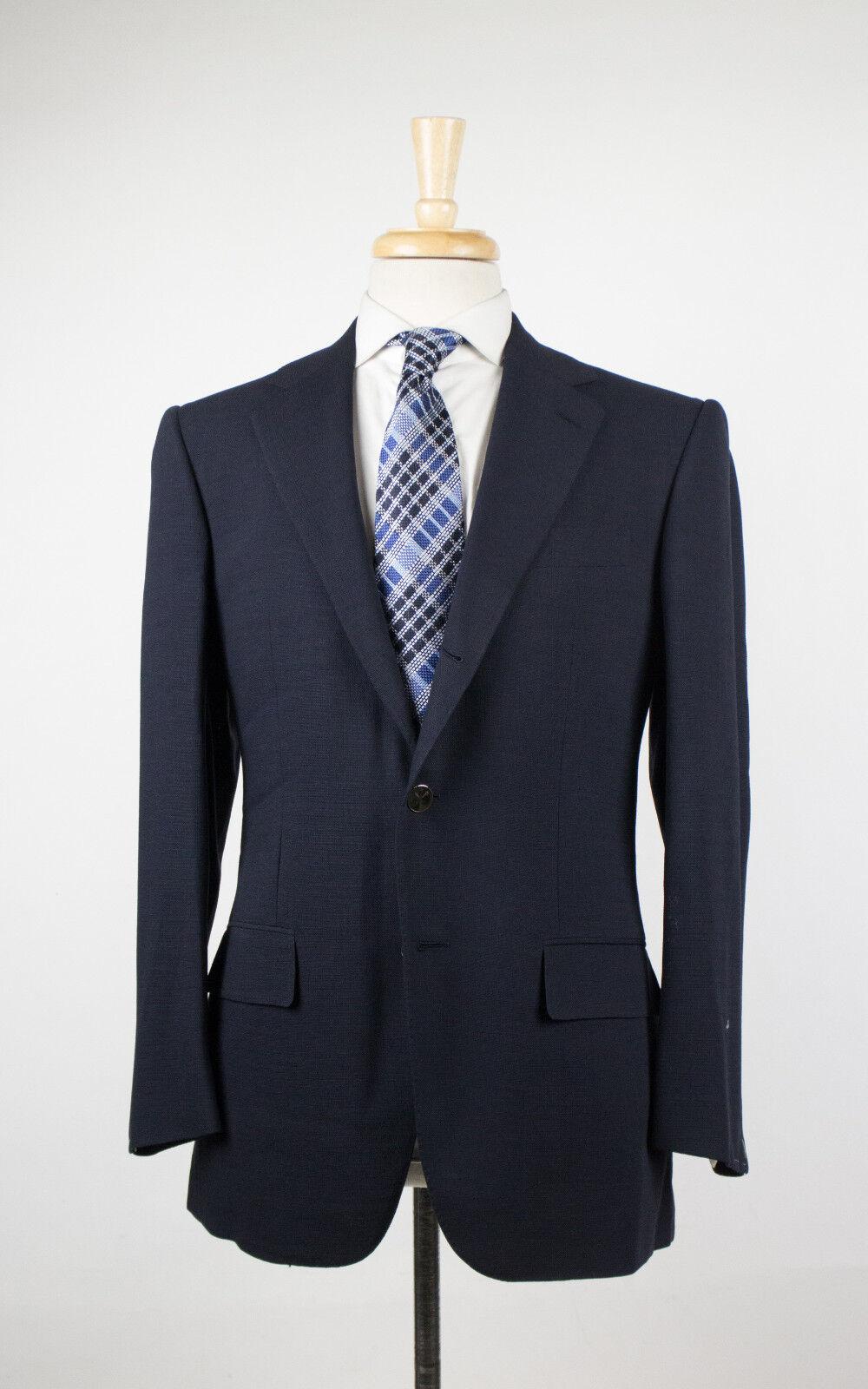 New D'AVENZA Navy Blau Wool 3 Roll 2 Button Sport Coat Größe 50/40 R 2995