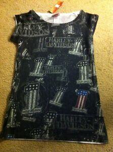 Tee M Davidson Black Short Shirt Womens Sleeve Harley Size wR8q5Xa