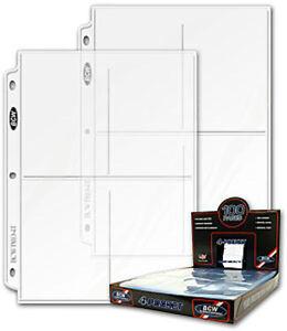20-4-Pocket-3-5-x-5-25-Photo-Postcard-Protector-BCW-Pro4T-fits-3-ring-binder