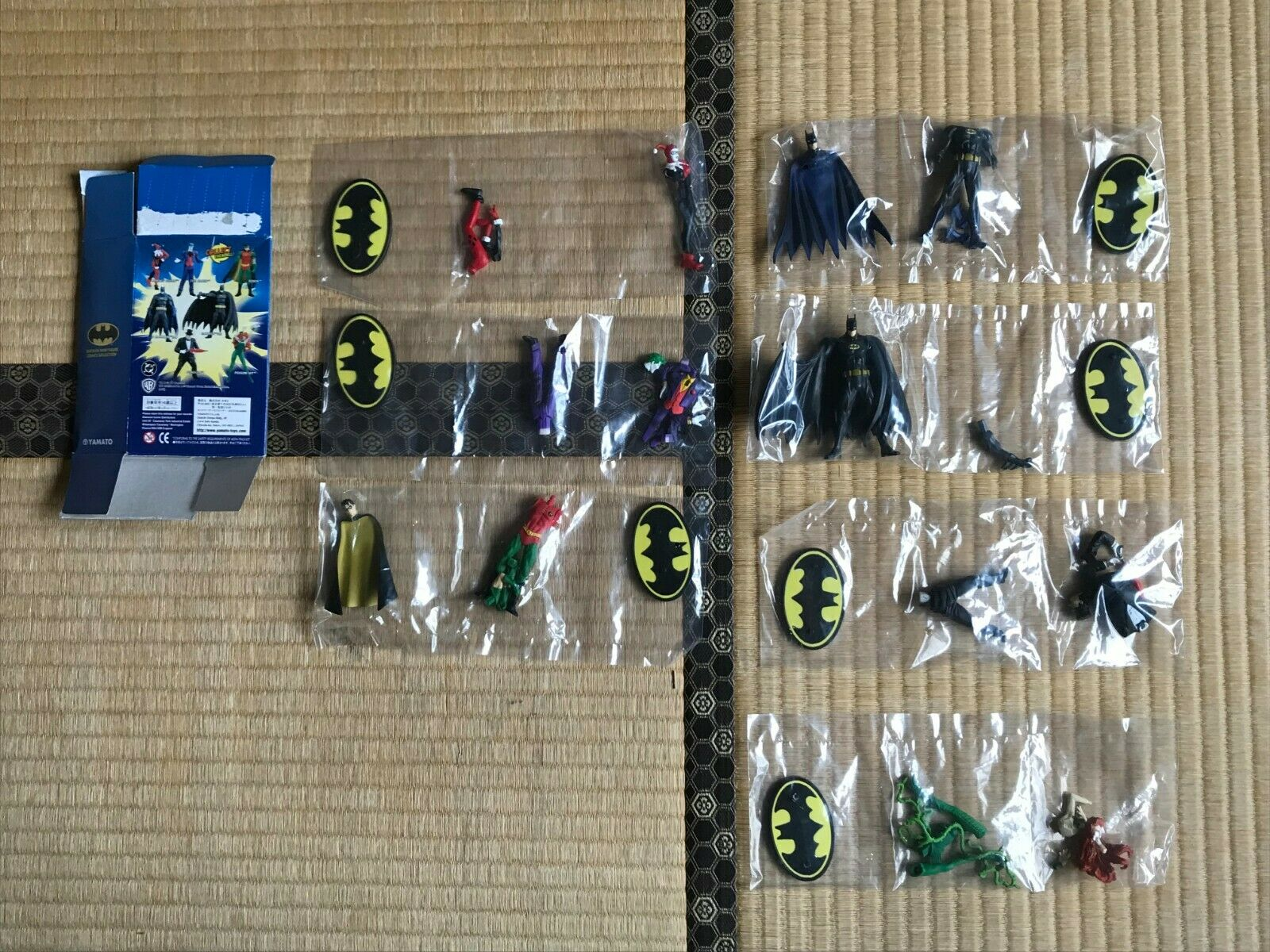 ⑤Yamato,BATMAN Mini Figure Comics Selection, All 7 Figures Complete Set