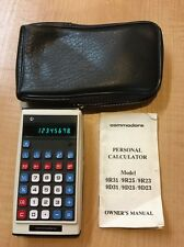 Rare Vintage Commodore Personal Calculator 9D31 Bundle W/ Leather Case Manual