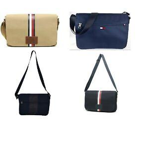 NWT-Tommy-Hilfiger-Men-039-s-Women-039-s-Canvas-Laptop-Messenger-Bag-Briefcase