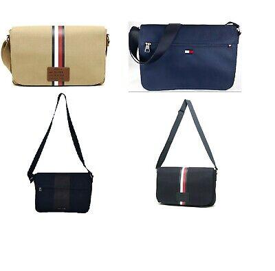 NWT Tommy Hilfiger Men/'s Women/'s  Canvas Laptop Messenger Bag Briefcase