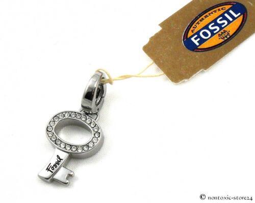 Fossil charm remolque de acero inoxidable clave pedrería jf84605 040