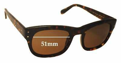 SFX Replacement Sunglass Lenses fits Moscot Nebb 51mm Wide