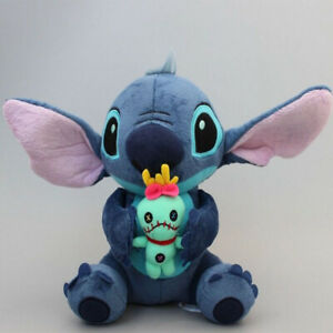 Cute-Lilo-amp-Stitch-Holding-Scrump-Plush-Doll-Bear-Soft-Toy-Kids-Christmas-Gift