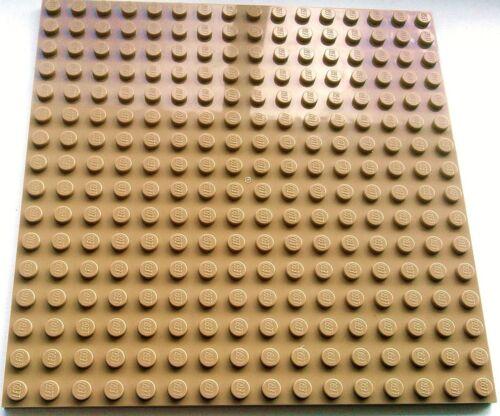 LEGO 1 X Dark Tan Plate Base Board 16x16 PIN 12.8 cm x 12.8 cm x 0.5 cm-Neuf