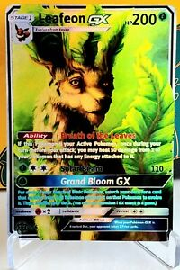 POKEMON: LEAFEON GX - FULL ART HOLO CUSTOM HANDMADE ORICA CARD NOT TCG READ DESC