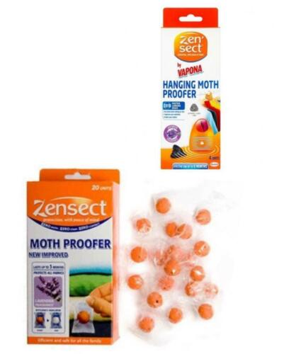 Zensect boules /& suspendus Moth étuve lavande Tissu Tueur Insectifuge Freshener