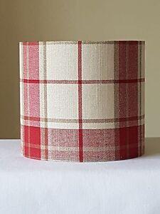 Handmade 20cm fabric drum lampshade laura ashley highland check image is loading handmade 20cm fabric drum lampshade laura ashley highland aloadofball Images