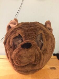 image is loading maskimals bulldog head furry mask halloween costume new