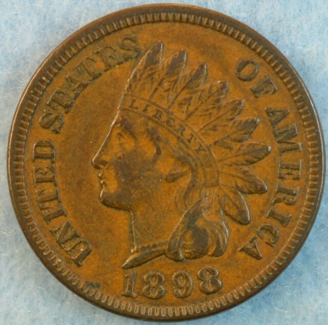 1898 Indian Head Cent AU Penny Very Old Coin Fast S&H 78274