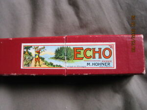 Harmonica-HOHNER-Echo-Made-in-Germany-Key-of-G-Vintage-w-Box