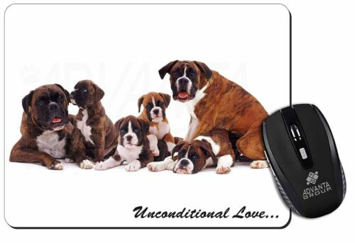 Boxer Dog-Love Computer Mouse Mat Christmas Gift Idea AD-B25uM
