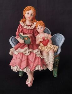 Ceramic-Sisters-Reading-Figurine-6-Inches-Tall-FREE-Delivery-UK