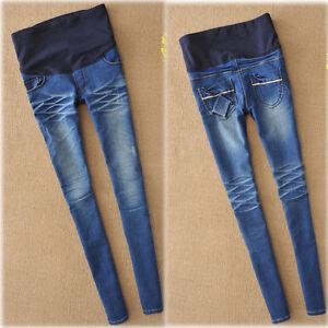OverBump-Skinny-Jeans-Pants-Trousers-Maternity-Pregnancy-Comfy-Slim-S-M-L-XL-2XL