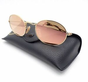 33e09087cc9 Ray Ban 3547 N 001/Z2 Shiny Gold Flat Copper Pink Mirror New ...