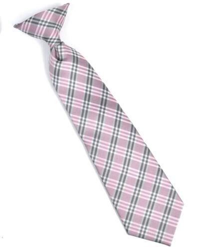 MPBC2006PK Boy/'s Youth Pink Pratt Cross Stripe Clip On Tie