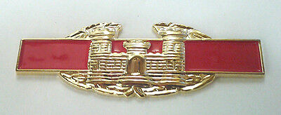 USMC GLOBE EMBLEM  Military Veteran LARGE GOLD US MARINES Hat Pin 16328 HO