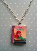 The Little Mermaid Book Locket Charm Necklace