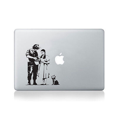 Banksy Wizard of Oz Stop and Search Vinyl Macbook Sticker / Macbook Decal / T...