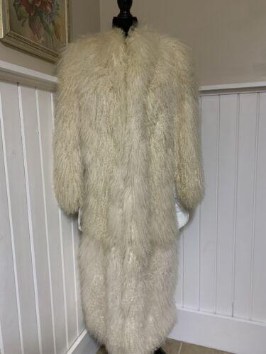 Vintage TIBETAN MONGOLIAN LAMB Fur Coat