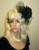 Retro Style Fascinator On The Clip, Women's Hair Accessories, Black Fascinator