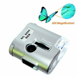 Extremely Compact and Lightweight Pocket Microscope Extraordinary Magnification