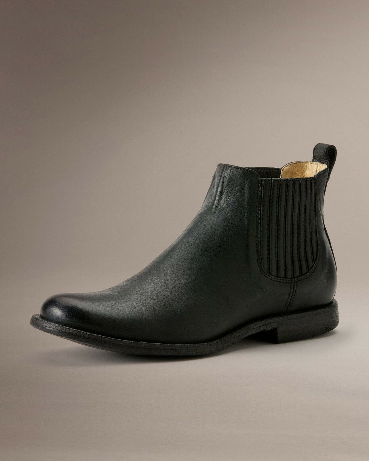 Mens Frye Boots Phillip Chelsea PullOn Boot Black Leather 87537 BLK