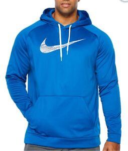 Nike Mens Hoodie Therma Dri Fit Long Sleeve Knit Pattern Big Tall ... afe400d73