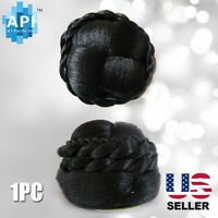 Hair Dome Bun Extension Pre-styled Synthetic Straight Pieces Bubble 02