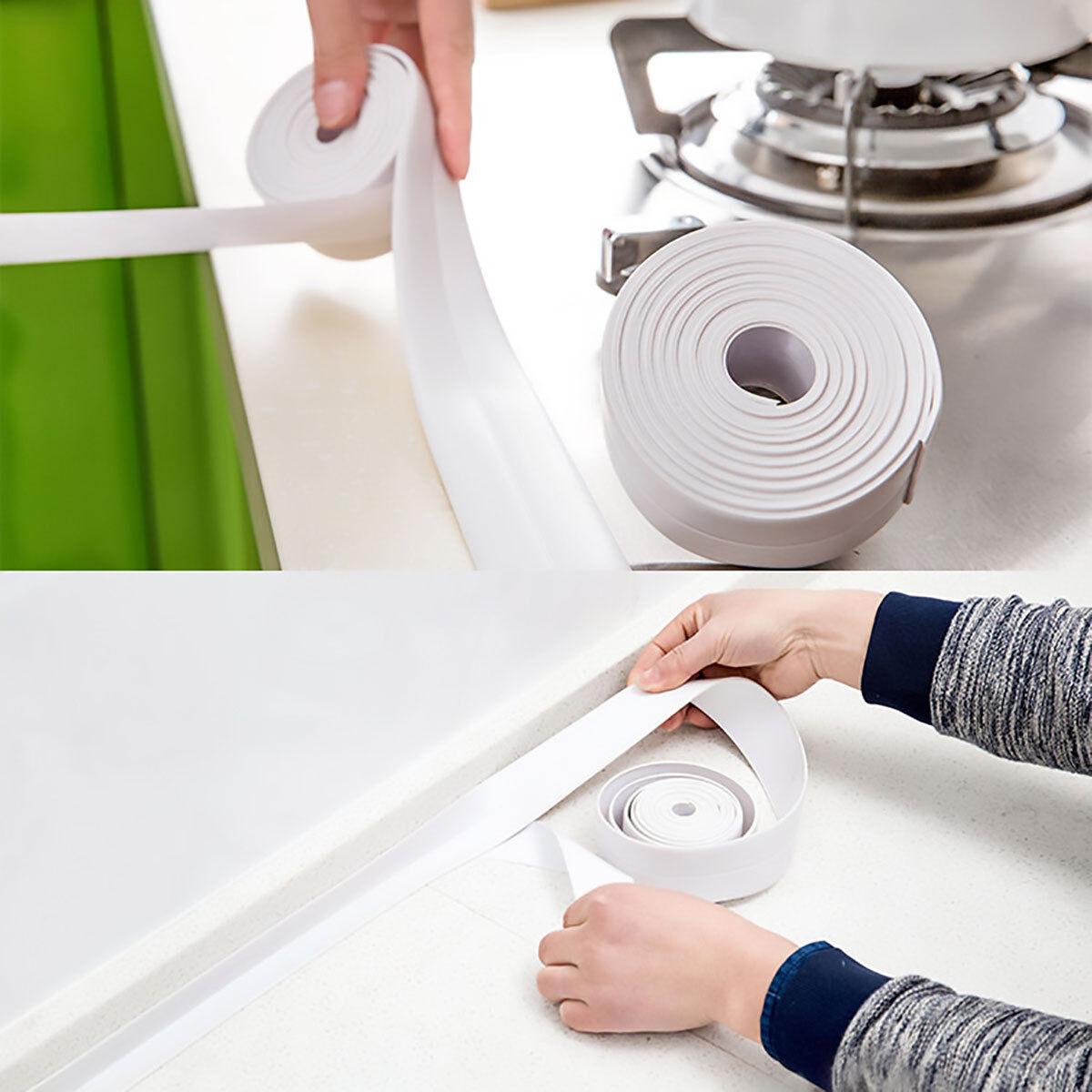 Home, Furniture & DIY 2X3.2M*38mm Wall Sealing Strip Bath Shower Sink Basin Edge Kitchen Sealant Tape