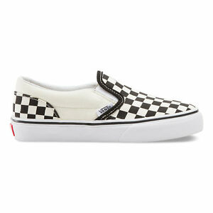 VANS KIDS Classic Slip-On (Checkerboard) Black White Size 11-4 Fast ... 037b66212