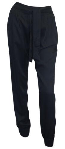 Pantaloni Harem Taglia 38 nero lunga somme Pantaloni Webhose Elastico Viscosa AJC