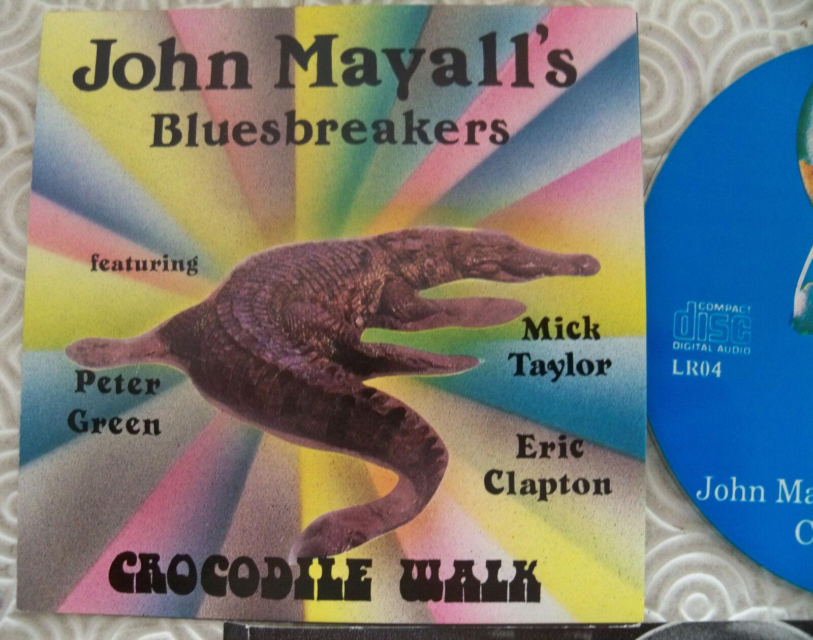 JOHN MAYALL'S bleuSBREAKERS  CROCODILE WALK  CD LIVE BBC 1965 67 CLAPTON TAYLOR