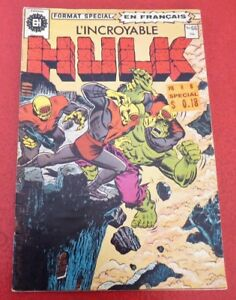 Soft-Cover-French-Heritage-Comic-Book-L-039-incroyable-Hulk-No-66