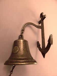 Ankerglocke Maritime Glocken Klingel Messing Brüniert Dekoration Schiffsglocke 4 Klar Und Unverwechselbar