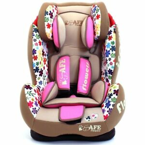 iSafe-Multi-Recline-Isofix-Car-Seat-Carseat-Flowers-Group-1-2-3-9kg-to-36kg